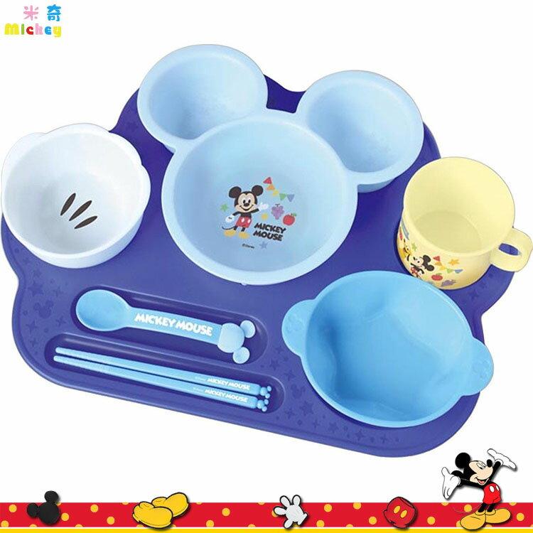 大田倉 錦化成 迪士尼 米奇  餐盤 湯匙 筷子 湯碗 小菜碟 水杯 塑膠兒童環保餐具組 306019