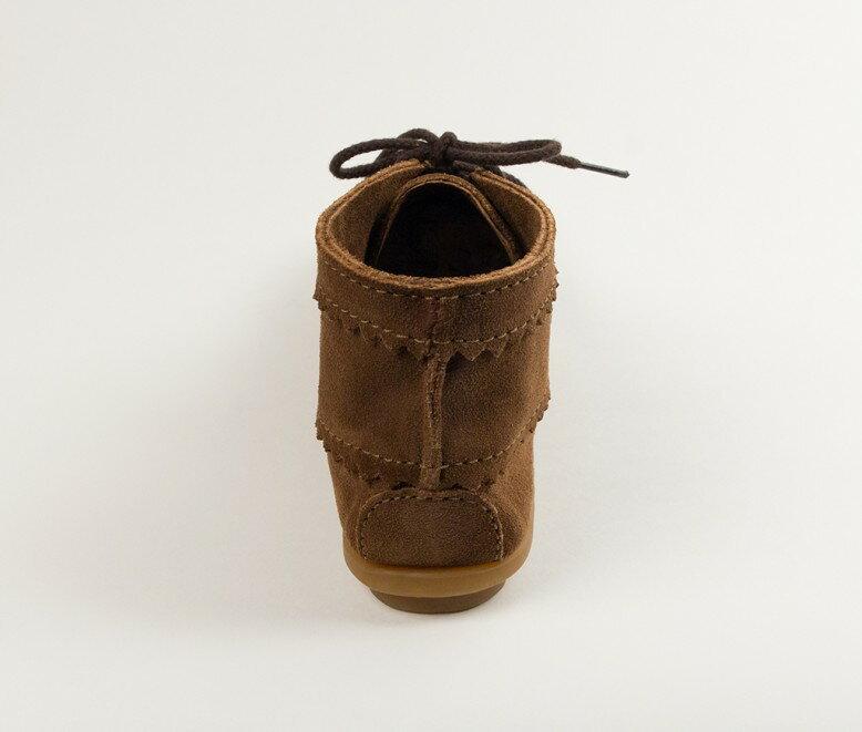 【Minnetonka 莫卡辛】棕色 - 印地安手工麂皮踝靴 4