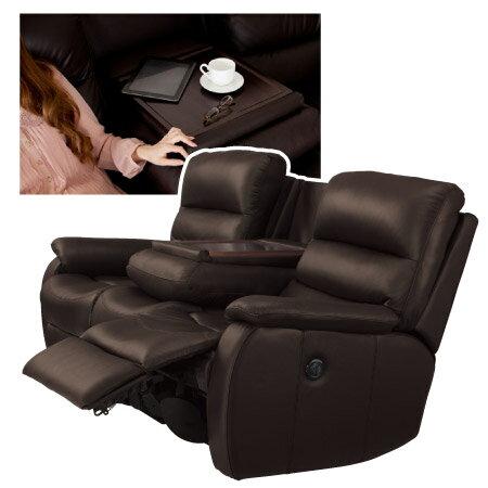 ◎全皮3人用頂級電動可躺式沙發 BELIEVER2 DBR NITORI宜得利家居 4
