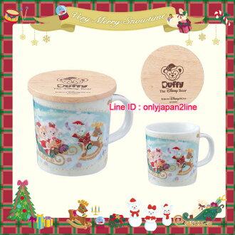 【真愛日本】16聖誕節限定陶瓷馬克杯附木製杯蓋墊組-達菲好朋友 迪士尼 樂園限定 聖誕節 日本帶回