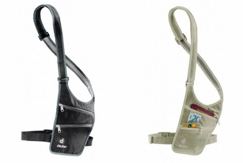 【露營趣】中和 德國 deuter 39220 隱藏式小錢包 防盜腰包 薄型腰包 旅行錢包 證件袋 防盜錢包