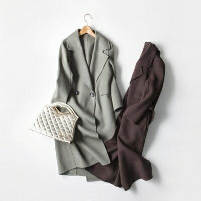 【米蘭秀】【奇珍館】:毛呢外套羊毛大衣-時尚氣質顯瘦英倫風女外套4色73op4【獨家進口】【米蘭精品】