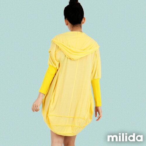 【Milida,全店七折免運】-早春商品-外套款-連帽前短後長風 2