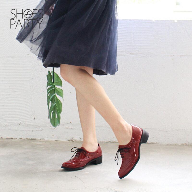 【現貨】【F2-17526P】日本製防水系列-綁帶牛津鞋_Shoes Party 1