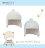 ViVi Baby - 絨球遮耳帽 (白) 1