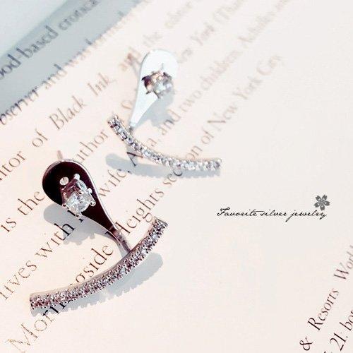 百搭弧形耳環10147【櫻桃飾品】【10147】