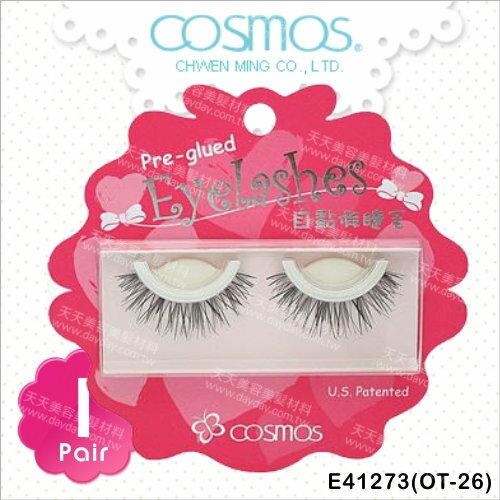 COSMOS自黏假睫毛(OT-26)-單對E41273(不需要另塗膠水) [91484]