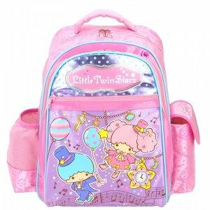 X射線【C946288】雙子星護脊書包S(氣球音符.銀粉色),開學必備/兒童書包/雙肩包/手提包/卡通/後背包/kikilala