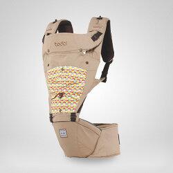 todbi Air Motion Blossom Hipseat Carrier-淺褐色(有 機棉安全氣囊坐墊式揹帶/背巾/揹巾)★衛立兒生活館★