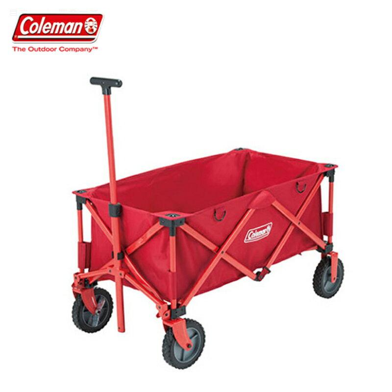 【露營趣】中和安坑 Coleman CM-21989 四輪拖車 露營拖車 折疊式拖輪車 置物推車 野餐拖車 收納推車