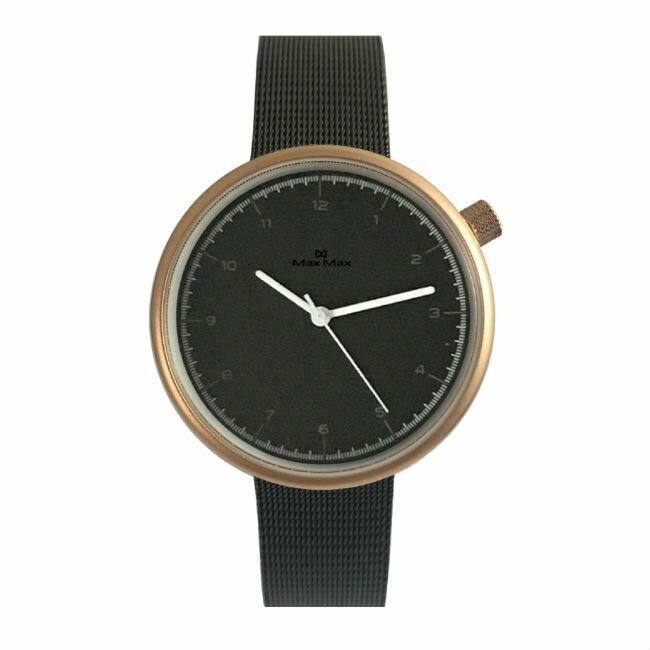 Max Max MAS7026-1 簡約文青米蘭帶腕錶 -黑 39mm - 限時優惠好康折扣