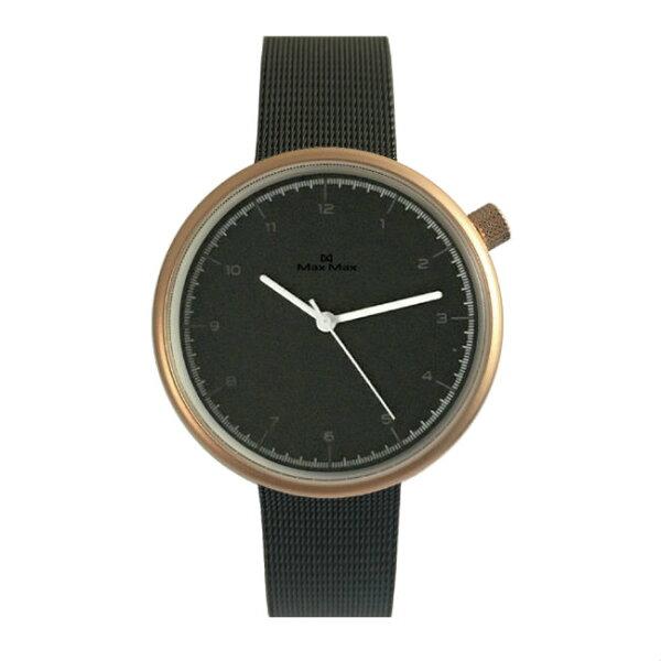 MaxMaxMAS7026-1簡約文青米蘭帶腕錶-黑39mm