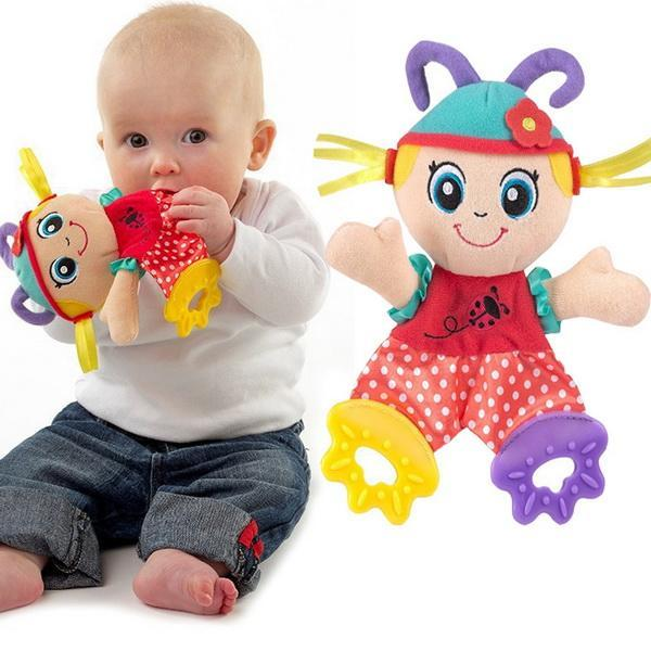 Infant Baby Plush Stuffed Toys Cute Cartoon Playmate Calm Doll Teether Developmental Kids Toys 1