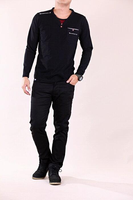 【CS衣舖 】 彈力伸縮 高質感 長袖T恤 3304 3