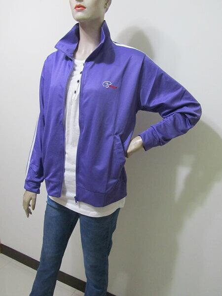 sun-e台灣製吸濕排汗薄外套、防曬外套、運動外套、單層薄外套(003-1403-07)紫色、(003-1403-08)寶藍色、(003-1403-21)黑色、(003-1403-22)灰色 尺寸:M L XL 2L(胸圍:44~52英吋)(男女可穿) [實體店面保障] 3