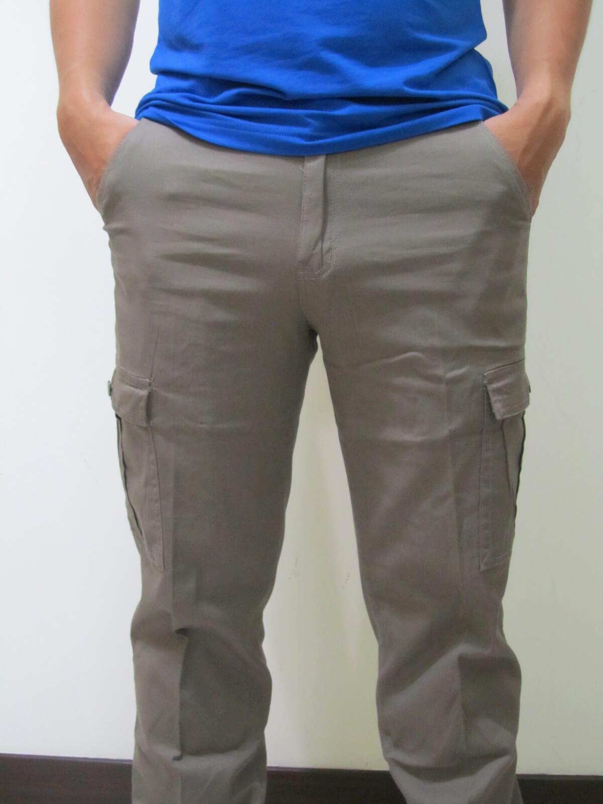 sun-e超輕薄休閒長褲、側貼袋工作褲、多口袋休閒長褲、伸縮中直筒休閒長褲(307-7006-16)卡其 腰圍:M L XL LL 3L 4L 5L(28~41英吋) 1