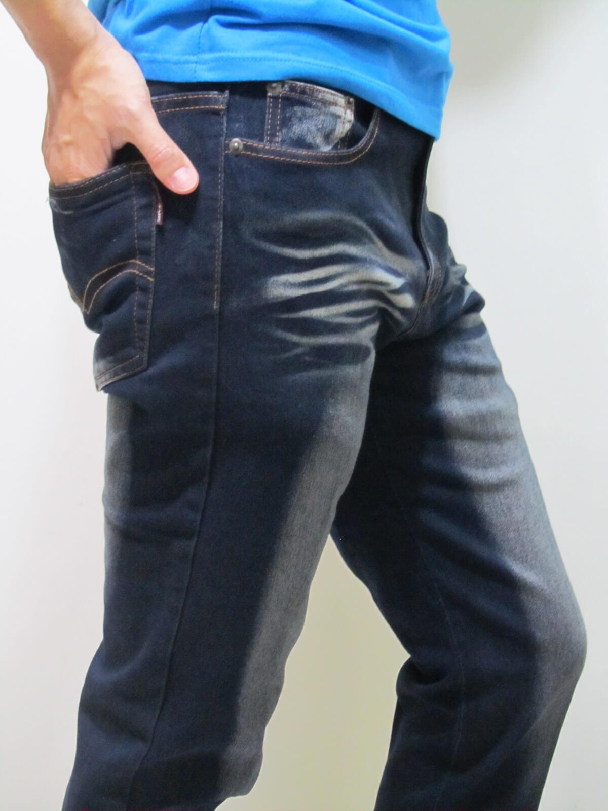 sun-e貓爪刷白牛仔褲、伸縮直筒修身牛仔長褲、顯瘦丹寧長褲、彈力牛仔長褲(307-7013-21)黑 腰圍:M L XL 2L 3L 4L(28~39英吋) 1