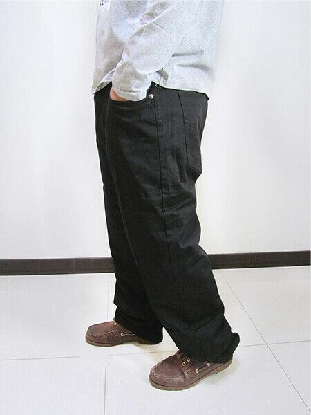 特加大尺碼 長度再加長牛仔褲 中直筒 彈性牛仔長褲 素面牛仔褲 素面長褲 黑色牛仔褲 黑色長褲 (307-7200-21)黑色 腰圍:42 44 46 48 50(英吋) [實體店面保障] sun-e 6