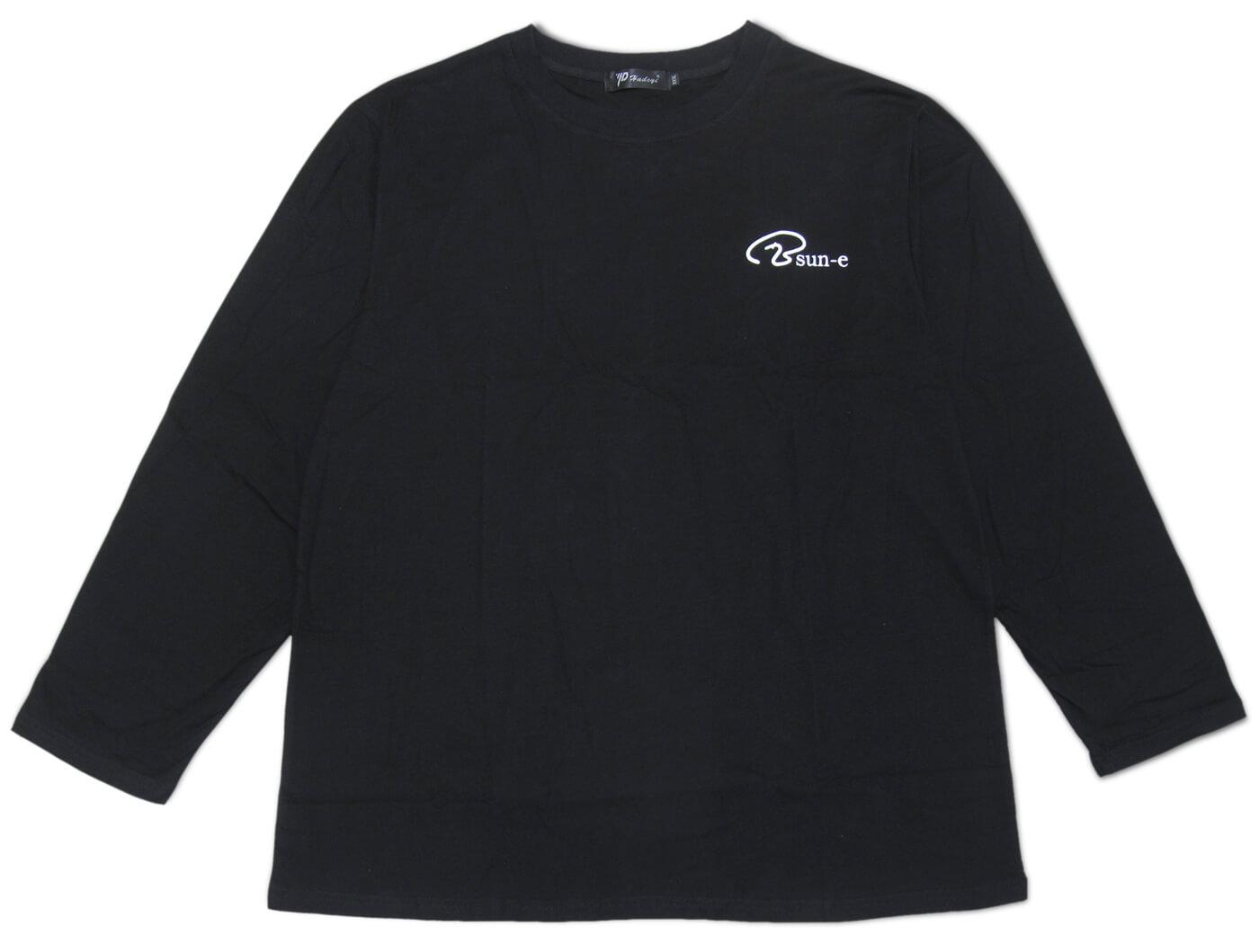 加大尺碼長袖素面圓領T恤 聚酯纖維100%長TEE 長袖T恤 休閒T恤 LOGO圖樣T恤 黑色T恤 灰色T恤 T-shirt 素面T(312-6005-21)黑色、(312-6005-28)深灰色 3