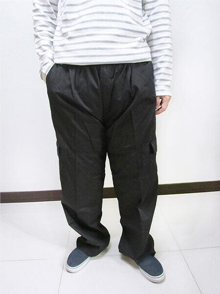 加大尺碼側貼袋工作褲 全腰圍鬆緊帶 多口袋休閒長褲 棉100% 工作長褲 休閒褲 黑色長褲 BIG&TALL CARGO PANTS (312-9926-10)淺軍綠色 (312-9926-21)黑色 腰圍:5L 6L(38~46英吋) [實體店面保障] sun-e 7