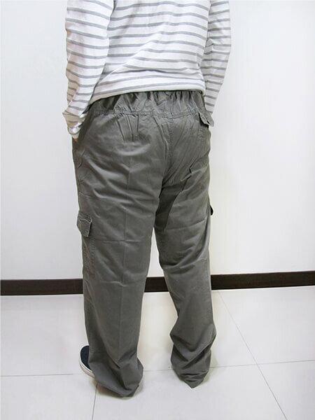 加大尺碼側貼袋工作褲 全腰圍鬆緊帶 多口袋休閒長褲 棉100% 工作長褲 休閒褲 黑色長褲 BIG&TALL CARGO PANTS (312-9926-10)淺軍綠色 (312-9926-21)黑色 腰圍:5L 6L(38~46英吋) [實體店面保障] sun-e 4