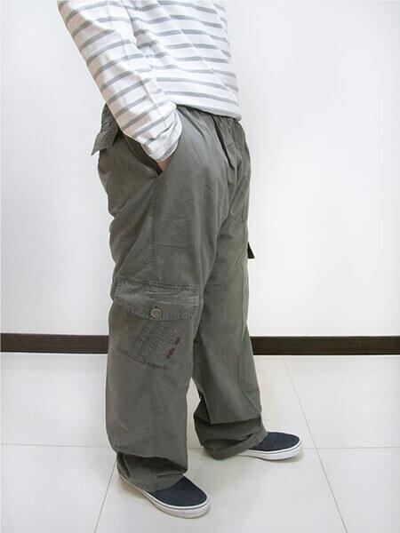 加大尺碼側貼袋工作褲 全腰圍鬆緊帶 多口袋休閒長褲 棉100% 工作長褲 休閒褲 黑色長褲 BIG&TALL CARGO PANTS (312-9926-10)淺軍綠色 (312-9926-21)黑色 腰圍:5L 6L(38~46英吋) [實體店面保障] sun-e 2