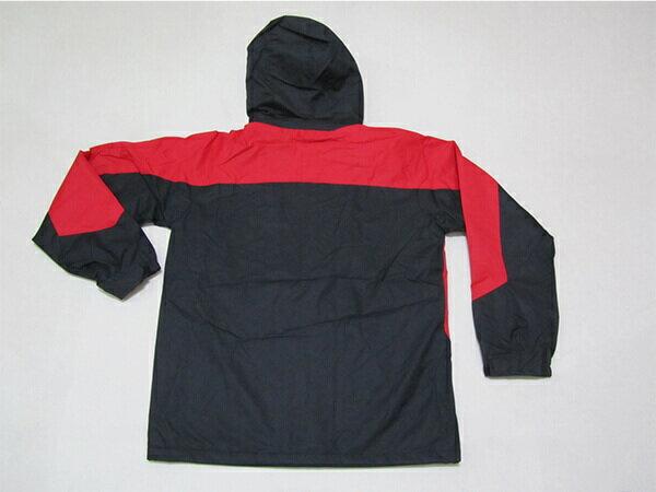 拼色風衣外套、騎士外套、連帽外套、配色休閒外套、內鋪一層薄內裡(316-1599-02)紅底配深灰色(316-1599-21)黑底配紅色 尺寸:2L 3L(胸圍:46~48英吋) [實體店面保障] sun-e 4