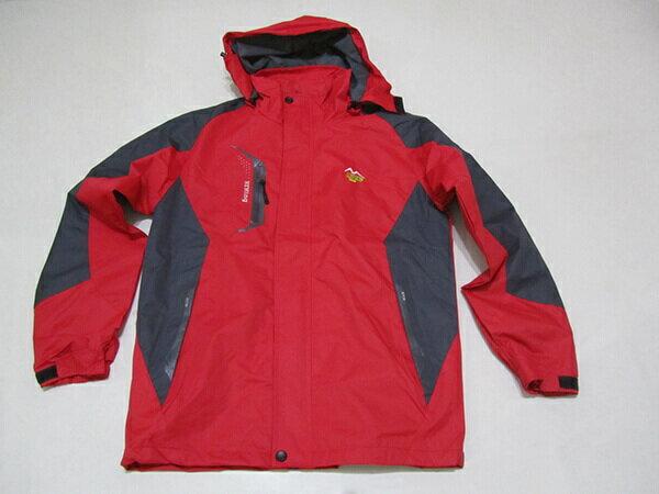 拼色風衣外套、騎士外套、連帽外套、配色休閒外套、內鋪一層薄內裡(316-1599-02)紅底配深灰色(316-1599-21)黑底配紅色 尺寸:2L 3L(胸圍:46~48英吋) [實體店面保障] sun-e 1