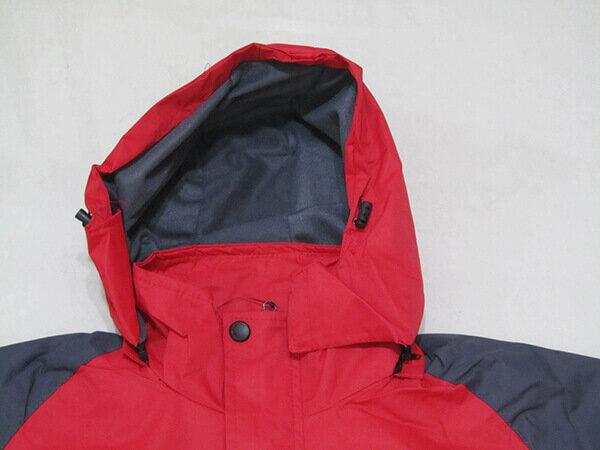 拼色風衣外套、騎士外套、連帽外套、配色休閒外套、內鋪一層薄內裡(316-1599-02)紅底配深灰色(316-1599-21)黑底配紅色 尺寸:2L 3L(胸圍:46~48英吋) [實體店面保障] sun-e 6