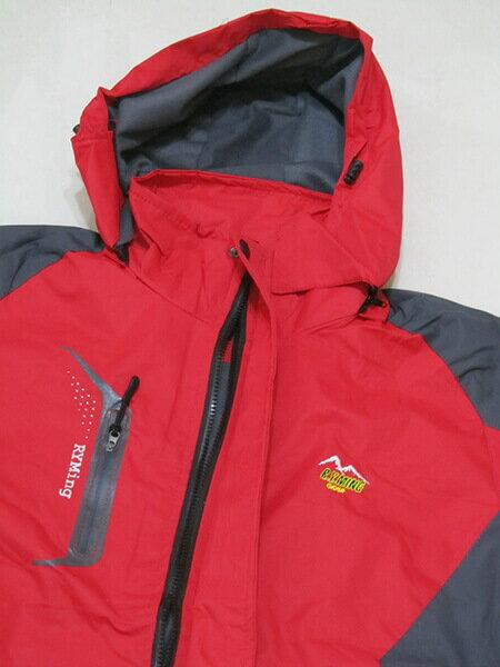 拼色風衣外套、騎士外套、連帽外套、配色休閒外套、內鋪一層薄內裡(316-1599-02)紅底配深灰色(316-1599-21)黑底配紅色 尺寸:2L 3L(胸圍:46~48英吋) [實體店面保障] sun-e 5