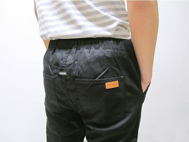 sun-e一般及加大尺碼JOGGER PANTS慢跑褲、美式褲管束口休閒褲、縮腳褲、縮口褲、顯瘦休閒褲、JOGGERS、褲管束腳褲、抽繩束口褲、街頭休閒運動風、黑色休閒長褲(321-6062-21)黑色 M、L、XL、2L(腰圍:28~35英吋) [實體店面保障] 7
