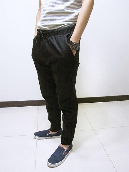 sun-e一般及加大尺碼JOGGER PANTS慢跑褲、美式褲管束口休閒褲、縮腳褲、縮口褲、顯瘦休閒褲、JOGGERS、褲管束腳褲、抽繩束口褲、街頭休閒運動風、黑色休閒長褲(321-6062-21)黑色 M、L、XL、2L(腰圍:28~35英吋) [實體店面保障] 8