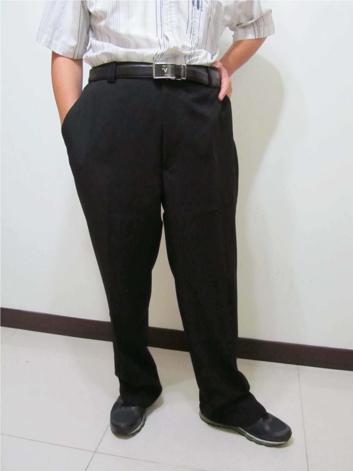 sun-e特加大尺碼西裝褲、加大尺碼平面西裝褲、加大尺碼西褲、正式場合西裝褲、標準西裝褲、上班西裝褲、商務西裝褲、黑色西裝褲、深藍西裝褲、腰圍有皮帶環(褲耳)、褲檔有拉鍊(321-7006-01)深藍(321-7006-02)黑色 腰圍:42 44 46 48 50 52 54 56(英吋) 1