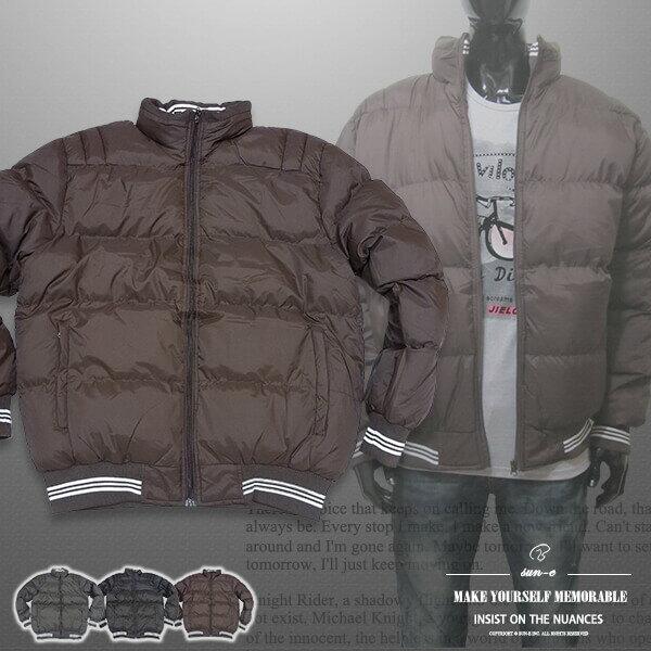 立領厚舖棉保暖外套、夾克外套、騎士外套、防寒外套、擋風外套、休閒外套、鋪棉外套、黑色外套(321-8327-01)咖啡色、(321-8327-02)綠色、(321-8327-03)黑色 L XL 2L(胸圍:48~52英吋) [實體店面保障] sun-e 0