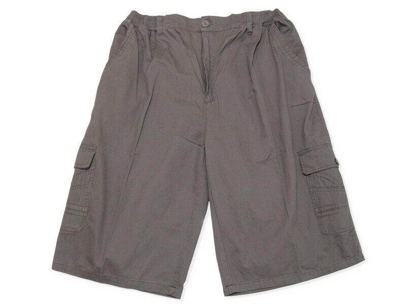 sun-e特加大尺碼側貼袋八分褲、大尺碼後腰圍鬆緊帶八分褲、大尺碼短褲、大尺碼工作褲、多口袋休閒褲、100%棉褲、腰圍有皮帶環(褲耳)、褲檔有拉鍊、大尺碼八分褲、黑色八分褲、卡其八分褲、BIG&TALL、CROPPED PANTS、CROPPED SHORTS(327-0035-16)卡其色、(327-0036-19)鐵灰色、(327-0037-21)黑色 單一尺寸 F 腰圍:40~58(英吋) [實體店面保障] 3