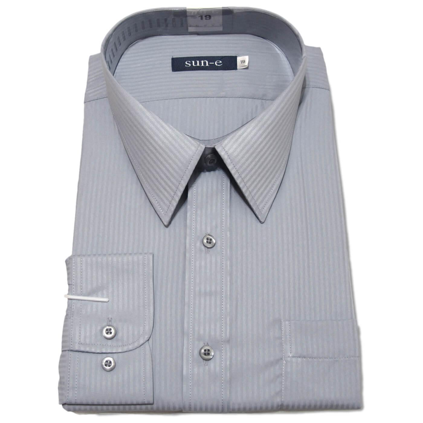 長袖條紋襯衫 標準襯衫 上班族襯衫 正式場合襯衫 商務襯衫 面試襯衫 柔棉舒適不皺免燙長袖襯衫 一般及加大尺碼襯衫 五種顏色可供選擇(335-701-01)白色襯衫、(335-703-09)淺藍色襯衫、(335-707-22)灰色襯衫、(335-710-14)淺黃色襯衫、(335-711-21)黑色襯衫 [實體店面保障] sun-e 3