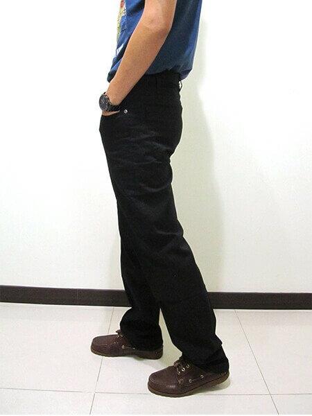 sun-e伸縮中直筒長褲、休閒長褲、後口袋粗線圖樣車繡設計、輕盈顯瘦長褲、彈性長褲、潮流時尚長褲、黑色長褲、腰圍有皮帶環(褲耳)、褲檔有拉鍊(390-8920-21)黑色 腰圍:M L XL 2L 3L 4L 5L(28~41英吋) [實體店面保障] 6