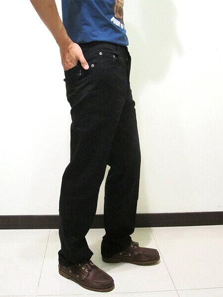 sun-e伸縮中直筒長褲、休閒長褲、後口袋粗線圖樣車繡設計、輕盈顯瘦長褲、彈性長褲、潮流時尚長褲、黑色長褲、腰圍有皮帶環(褲耳)、褲檔有拉鍊(390-8920-21)黑色 腰圍:M L XL 2L 3L 4L 5L(28~41英吋) [實體店面保障] 4