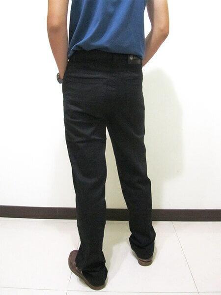 sun-e伸縮中直筒長褲、休閒長褲、後口袋粗線圖樣車繡設計、輕盈顯瘦長褲、彈性長褲、潮流時尚長褲、黑色長褲、腰圍有皮帶環(褲耳)、褲檔有拉鍊(390-8920-21)黑色 腰圍:M L XL 2L 3L 4L 5L(28~41英吋) [實體店面保障] 7