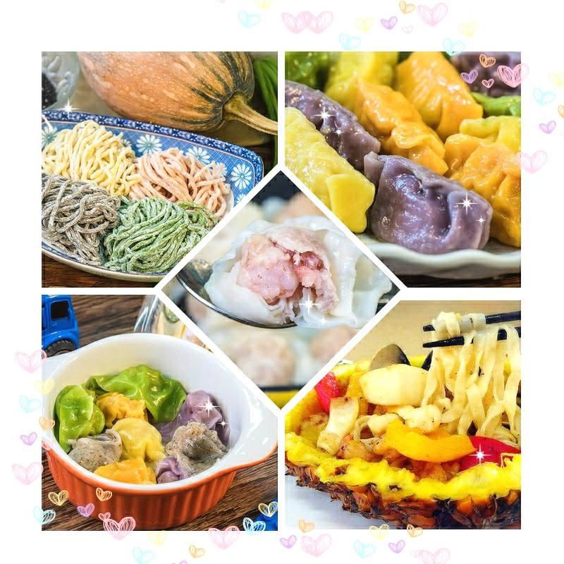 低溫優惠商品組 彩色水餃 寶寶餛飩 蔬果小拉麵 鮮蝦大餛飩