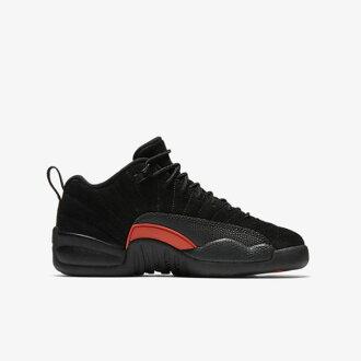 Nike AIR JORDAN 12 RETRO LOW BG 女鞋 籃球 計程車 黑橘紅 【運動世界】 308305-003