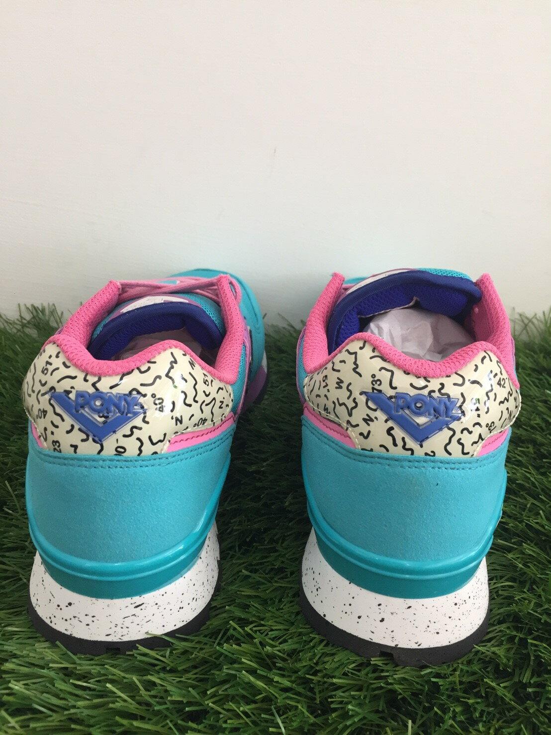 ★限時特價990元★ Shoestw【53W1MK65CB】PONY 復古慢跑鞋 內增高 水藍粉色 女生 2