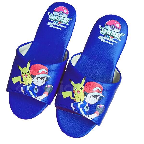 【真愛日本】兒童室內皮拖-PK寶可夢神奇寶貝皮卡丘小智皮拖鞋室內拖鞋防滑拖鞋兒童拖鞋日用品居家百貨