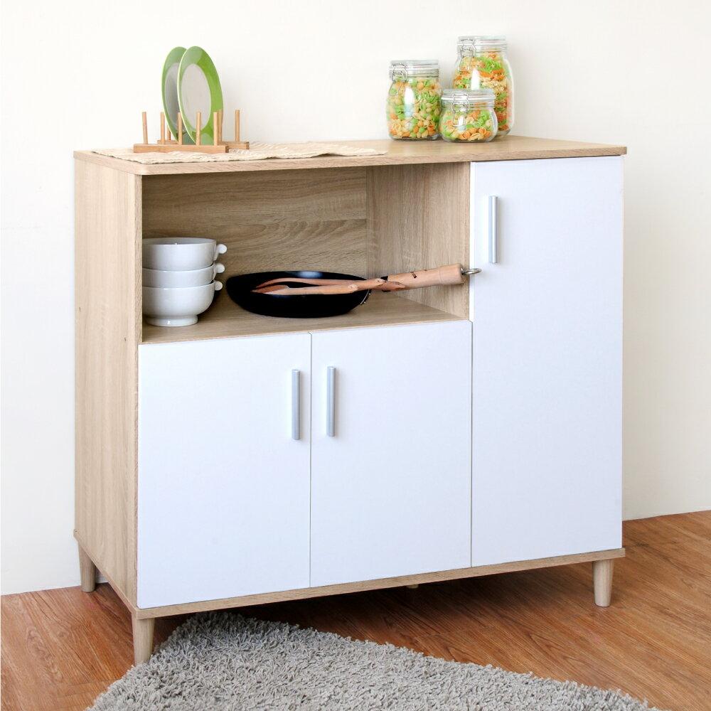 《HOPMA》家具/DIY/收納/居家/收納櫃/櫃子 三門四格廚房櫃 D-C900