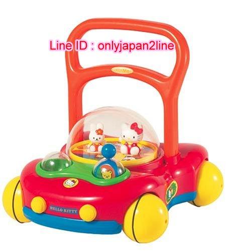 【真愛日本】16102100013學步手推車玩具-KT紅  三麗鷗 Hello Kitty 凱蒂貓 兒童玩具 正品 限量