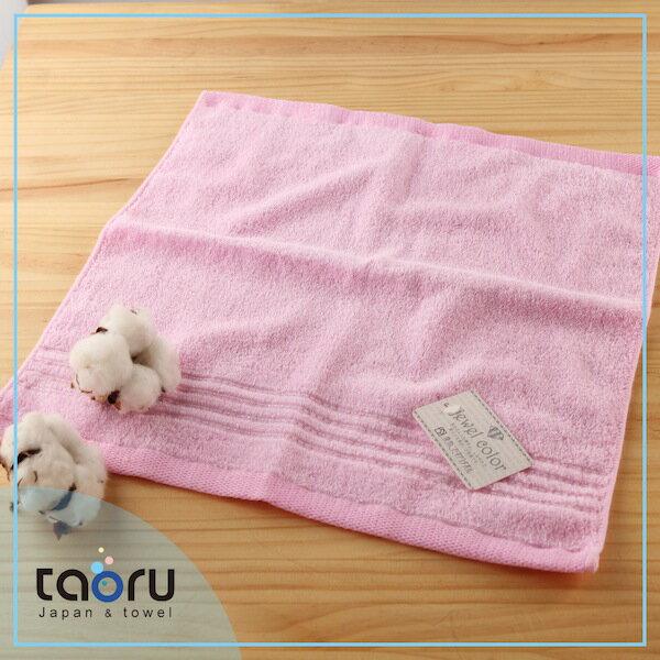 日本毛巾 / 居家實用款 : 珠寶盒 春櫻粉 34*35 cm (方巾 -- taoru 日本毛巾)
