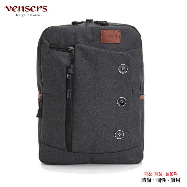 【vensers】簡約丹寧牛仔後背包(R00061602黑色) 0