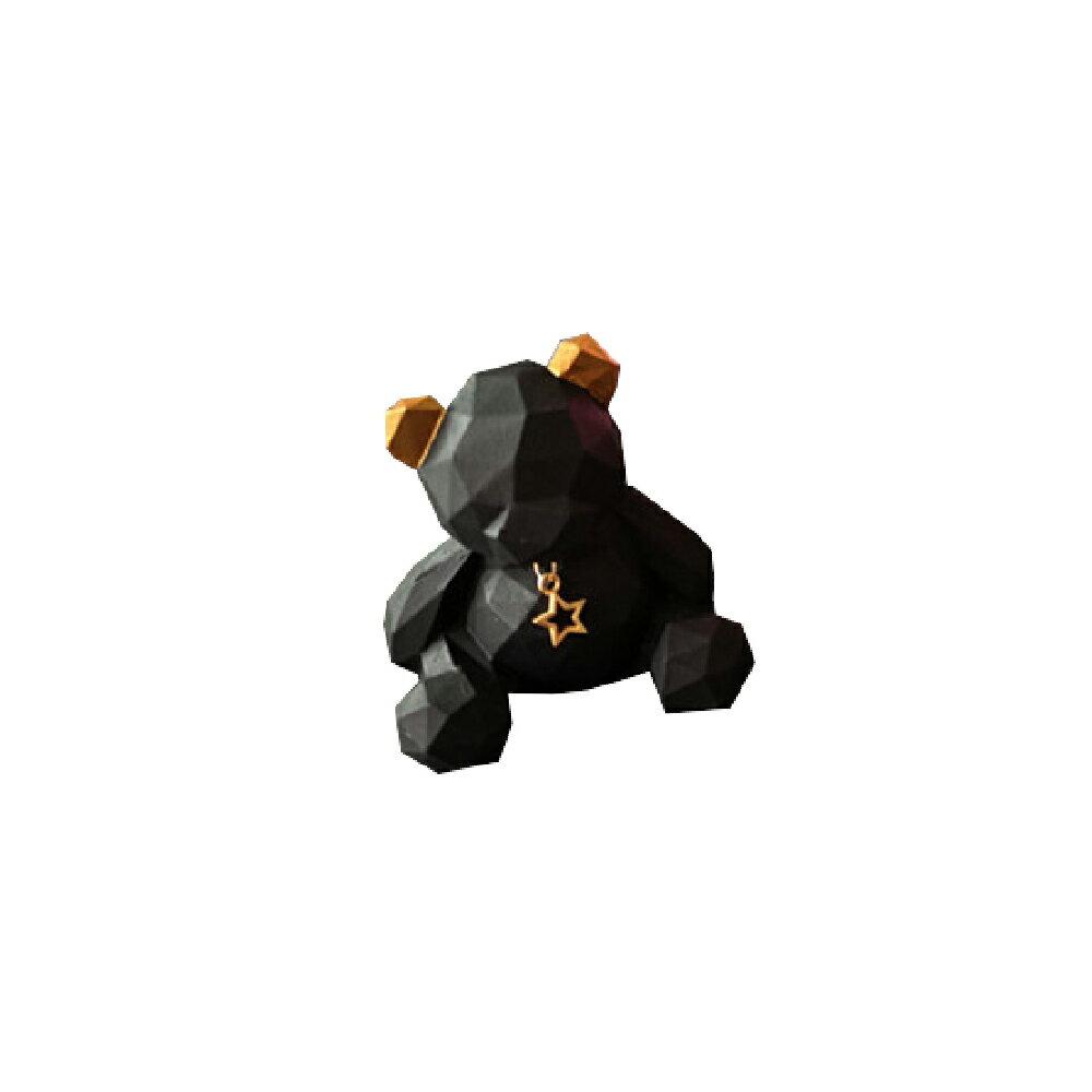 擴香石-幾何小熊 黑色