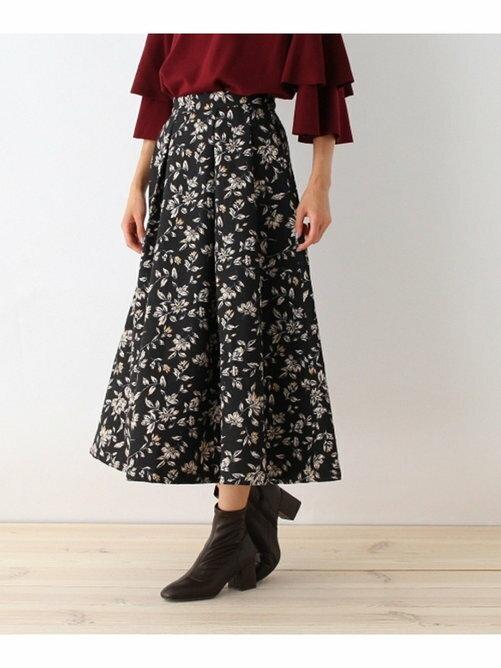 OZOC 印花 雪紡傘裙 長裙 日本必買 日本直送 代購/日貨/雜誌