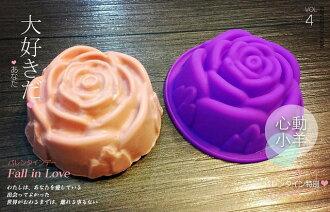 diy手工皂模具供應單孔玫瑰花矽膠手工皂模 皂模 巧克力模